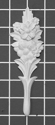 "Floral Stem - 2"" W x 6-1/8"" H x 1/2"" Thick - Architectural Decoration"