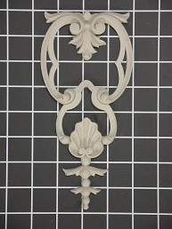 "Acanthus with Shell Drop - 3-5/8"" W x 7-7/8"" H x 1/2"" Thick - Architectural Decoration"