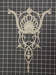 "Large Shell Vine Center - 10"" W x 15"" H x 5/8"" Thick - Architectural Decoration"