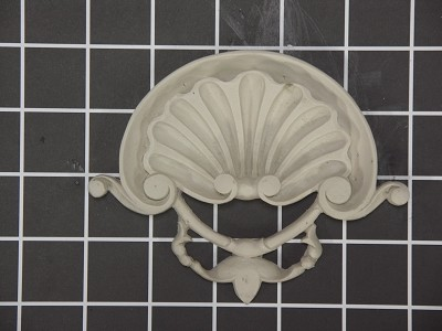 "Shell Center - 5"" W x 4"" H x 3/4"" Thick - Architectural Decoration"