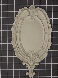 "Oval Center with ""Fleur-de-lis"" Bottom - 6-3/8"" W x 11-1/4"" H x 5/8"" Thick - Architectural Decoration"