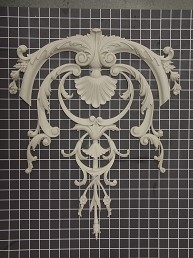 "Acanthus with Shell Center Vine - 17"" W x 21"" H x 3/4"" Thick - Architectural Decoration"