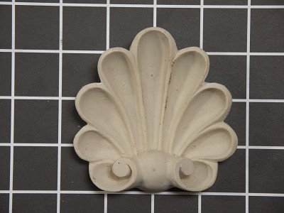"Shell Onlay - 3-1/2"" W x 3-1/2"" H x 7/8"" Thick - Architectural Decoration"