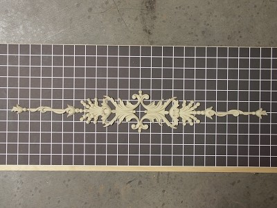 "Diamond Centered Vine - 23-1/2"" W x 3-7/8"" H x 3/8"" Thick - Architectural Decoration"