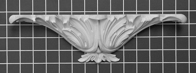 "Acanthus Urn - 13-1/8"" W x 3-5/8"" H x 2-3/4"" Thick - Architectural Decoration"