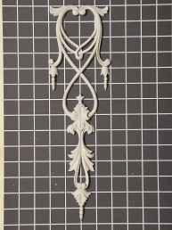 "Swag & Acanthus Link Drop - 4"" W x 13-7/8"" H x 3/8"" Thick - Architectural Decoration"