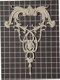 "Acanthus Swags with Vine Drop - 9-3/4"" W x 13-3/8"" H x 1/2"" Thick - Architectural Decoration"