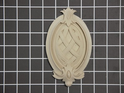 "Weaved Oval Center Piece - 3-1/2"" W x 6-1/8"" H x 3/4"" Thick - Architectural Decoration"