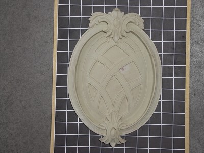 "Weaved Oval Center Piece - 8-1/8"" W x 11-3/4"" H x 3/4"" Thick - Architectural Decoration"