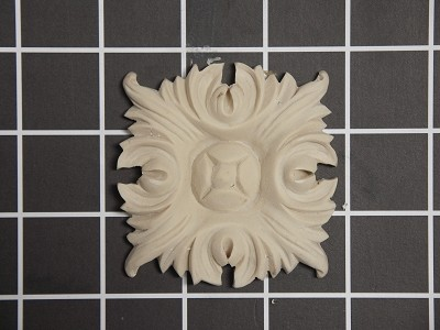 "Acanthus Rosette - 2-3/4"" W x 2-3/4"" H x 5/16"" Thick"