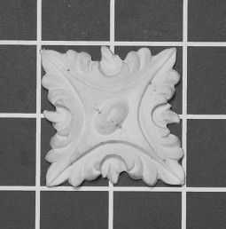 "2"" Square: Acanthus Rosette - 2"" W x 2"" H x 3/8"" Thick"