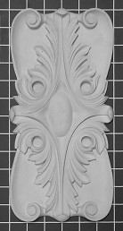 "Acanthus Leaf Rosette - 6"" W x 12"" H x 3/4"" Thick"