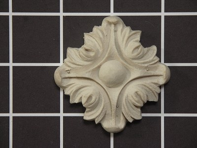 "Acanthus Rosette - 2-1/4"" W x 2-1/4"" H x 1/2"" Thick."
