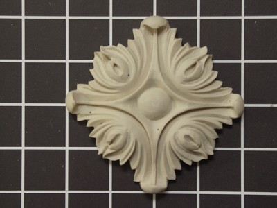 "Acanthus Rosette - 4"" W x 4"" H x 3/4"" Thick"