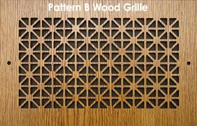 "Wall & Ceiling Wood Vent Grille - Pattern ""B"" Design"