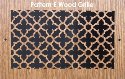 "Wall & Ceiling Wood Vent Grille - Pattern ""E"" Design"