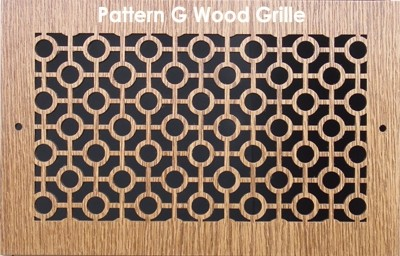 "Wall & Ceiling Wood Vent Grille - Pattern ""G"" Design"