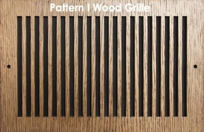 "Wood Vent Grille - Pattern ""I"" Design"