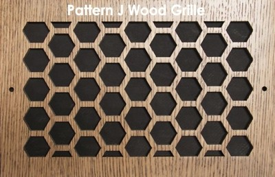 "Wall & Ceiling Wood Vent Grille - Pattern ""J"" Design"