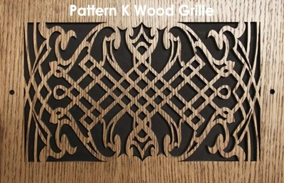 "Wood Vent Grille - Pattern ""K"" Design"