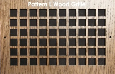 "Wall & Ceiling Wood Vent Grille - Pattern ""L"" Design"