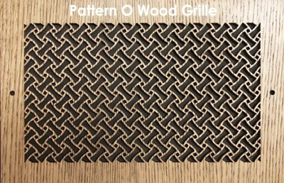 "Wall & Ceiling Wood Vent Grille - Pattern ""O"" Design"