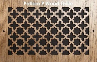 "Wall & Ceiling Wood Vent Grille - Pattern ""P"" Design"
