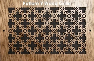 "Wall & Ceiling Wood Vent Grille - Pattern ""Y"" Design"