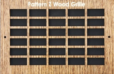 "Wall & Ceiling Wood Vent Grille - Pattern ""Z"" Design"